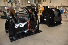 34 tonnes hydraulic winch