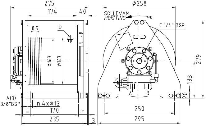 900 kg hydraulic winch tn09 - winches