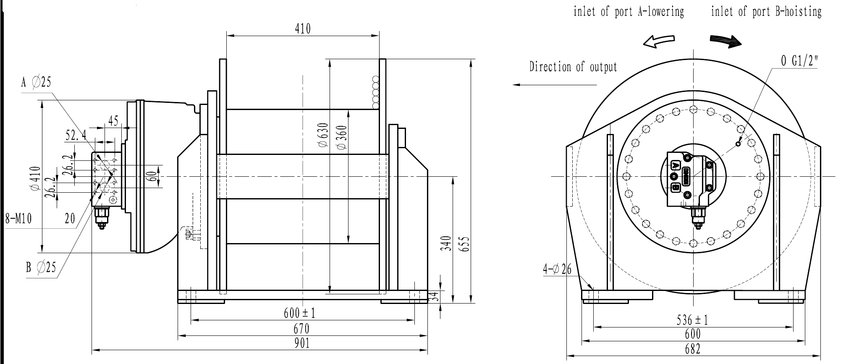 5 ton hydraulische lier 4-50 - lieren